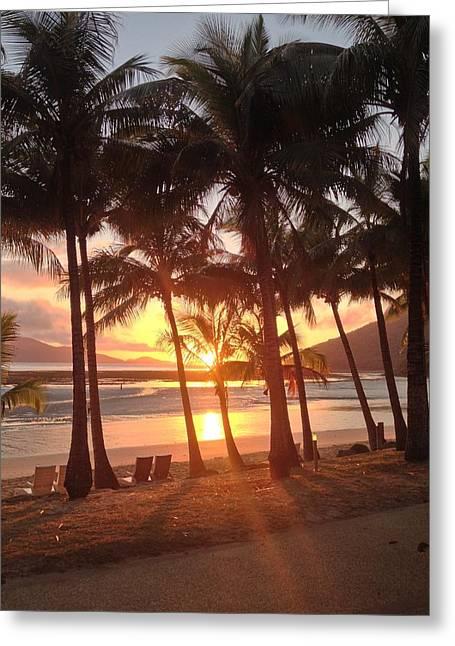 Sunrise At Catseye Beach Greeting Card