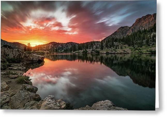 Sunrise At Cecret Lake Greeting Card