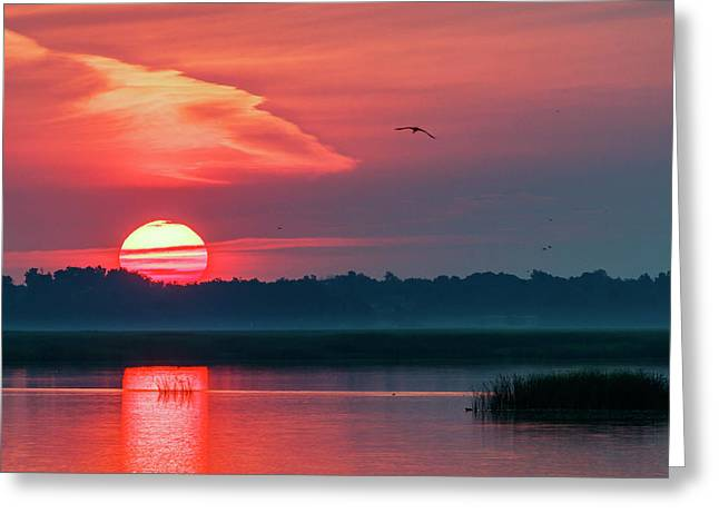 Greeting Card featuring the photograph Sunrise At Cheyenne Bottoms 03 by Rob Graham