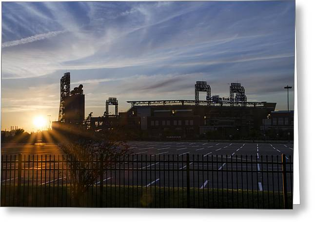 Sunrise At Citizens Bank Park - Philidelphia Greeting Card