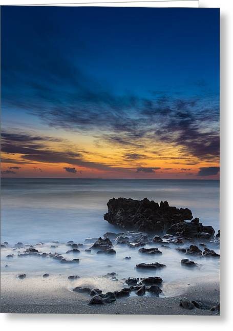 Sunrise At Coral Cove Park In Jupiter Vertical Greeting Card by Andres Leon