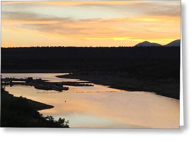 Sunrise At Crawley Lake Greeting Card by Beverly Johnson