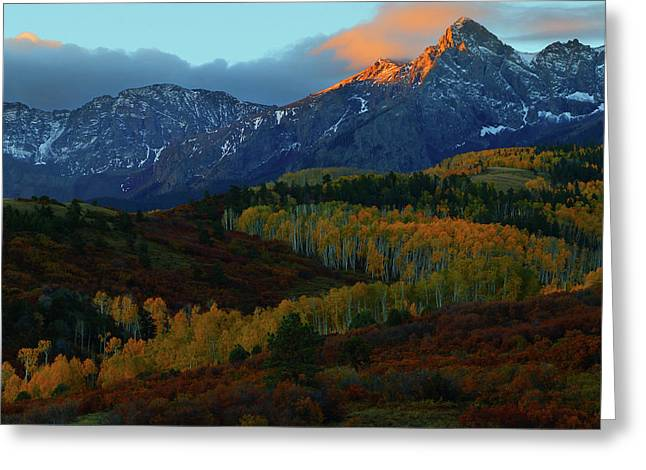 Greeting Card featuring the photograph Sunrise At Dallas Divide During Autumn by Jetson Nguyen