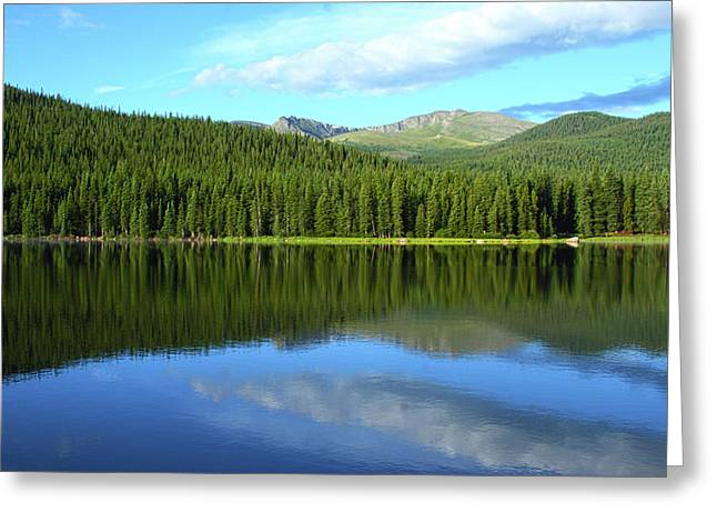Greeting Card featuring the photograph Sunrise At Echo Lake by Marie Leslie