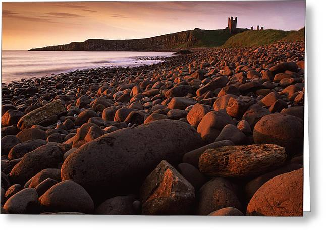 Sunrise At Embleton Bay Greeting Card by John Perriment