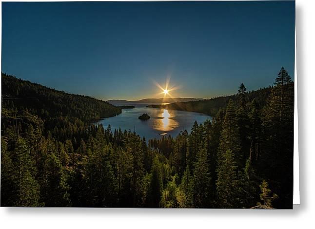 Sunrise At Emerald Bay Greeting Card