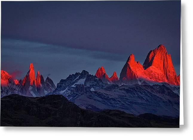 Sunrise At Fitz Roy #2 - Patagonia Greeting Card