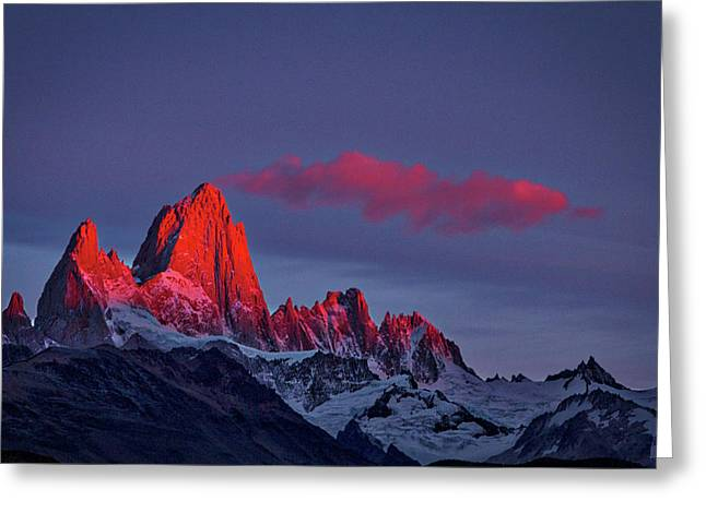 Sunrise At Fitz Roy #3 - Patagonia Greeting Card