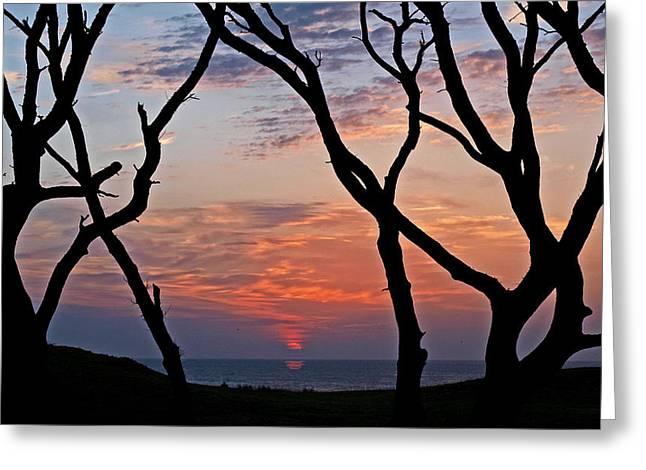 Sunrise At Fort Fisher Greeting Card by Paul Boroznoff