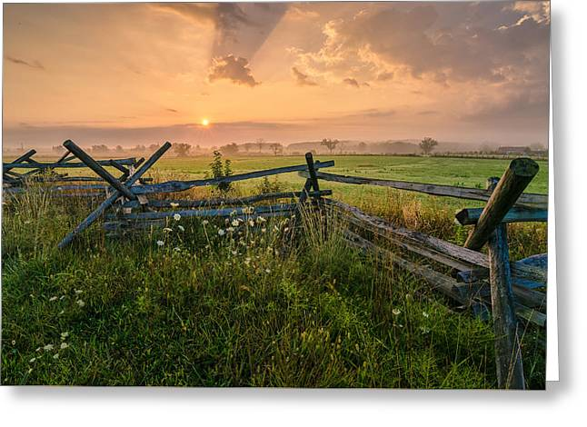 Sunrise At Gettysburg National Park Greeting Card