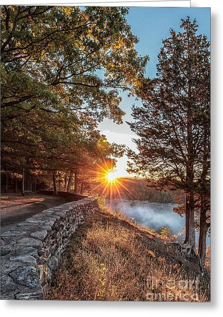 Sunrise At Great Bend Greeting Card
