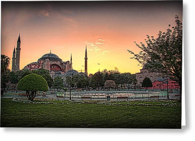 Sunrise At Hagia Sophia Greeting Card