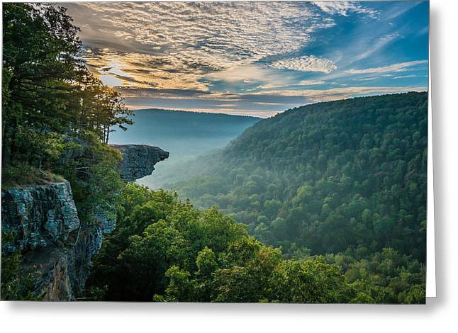 Sunrise At Hawksbill Crag Greeting Card