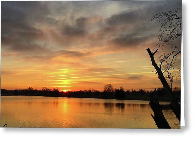 Sunrise At Jacobson Lake Greeting Card by Sumoflam Photography