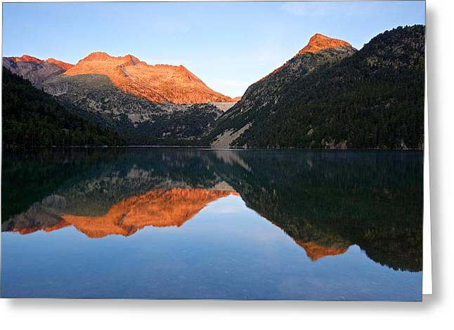 Sunrise At Lac D'oredon Greeting Card by Stephen Taylor