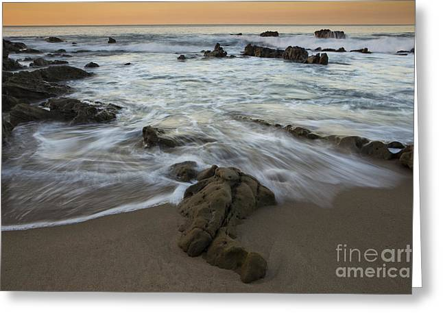 Sunrise At Laguna Beach Greeting Card by Keith Kapple