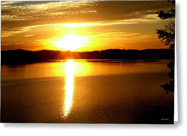 Sunrise At Lake Lanier 001 Greeting Card