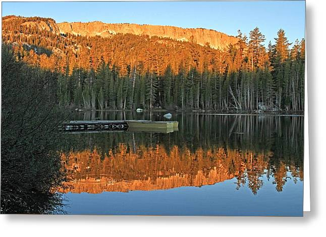 Sunrise At Lake Mamie Greeting Card by Donna Kennedy