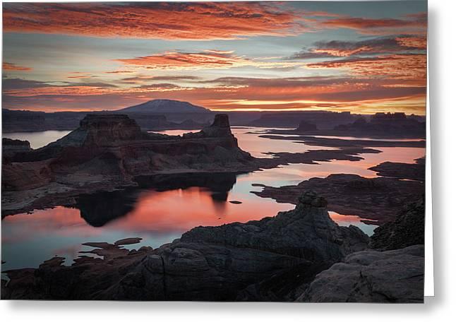 Sunrise At Lake Powell Greeting Card