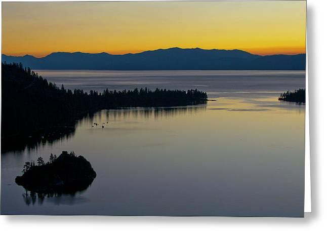 South Lake Tahoe Greeting Cards - Sunrise at Lake Tahoe - Emerald Bay - California Greeting Card by Brendan Reals