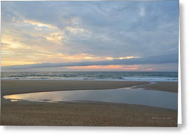Greeting Card featuring the photograph Sunrise At Loggerhead by Barbara Ann Bell