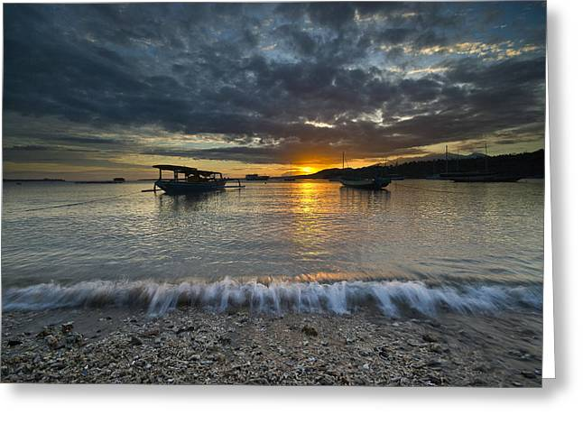 Sunrise At Lombok Greeting Card