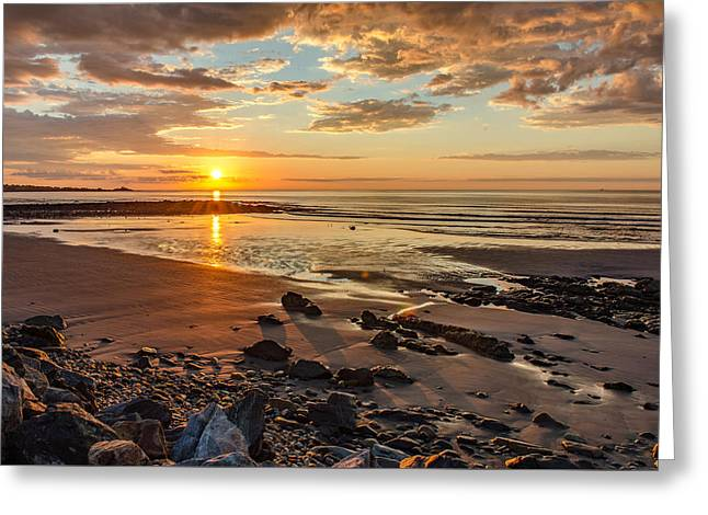 Sunrise At Long Sands Greeting Card