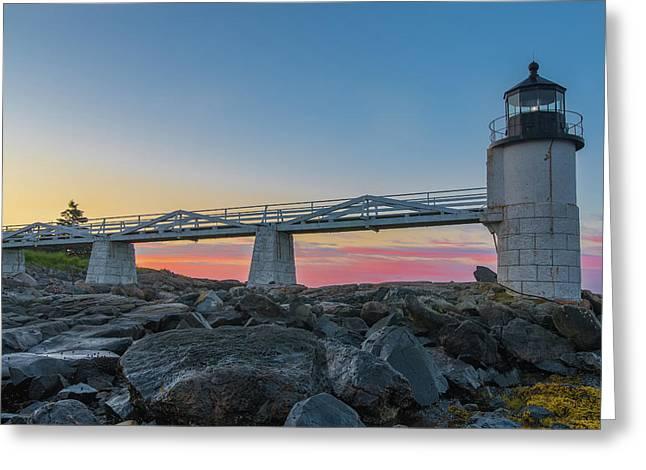 Sunrise At Marshall Point Greeting Card