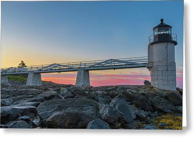Sunrise At Marshall Point Greeting Card