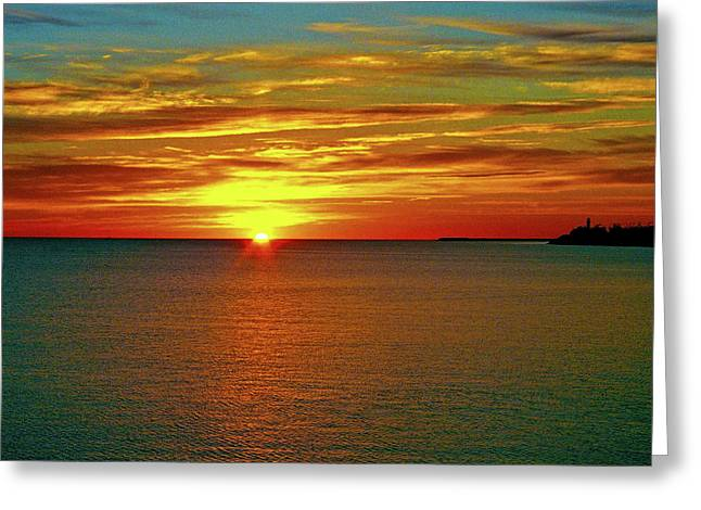 Sunrise At Matane Greeting Card by Juergen Weiss