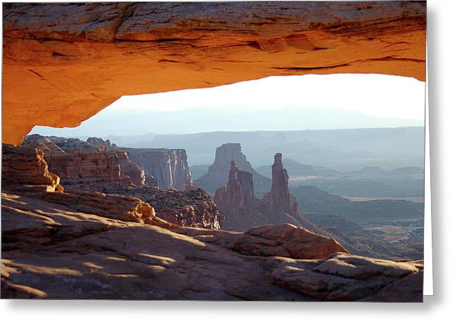 Sunrise At Mesa Arch Greeting Card