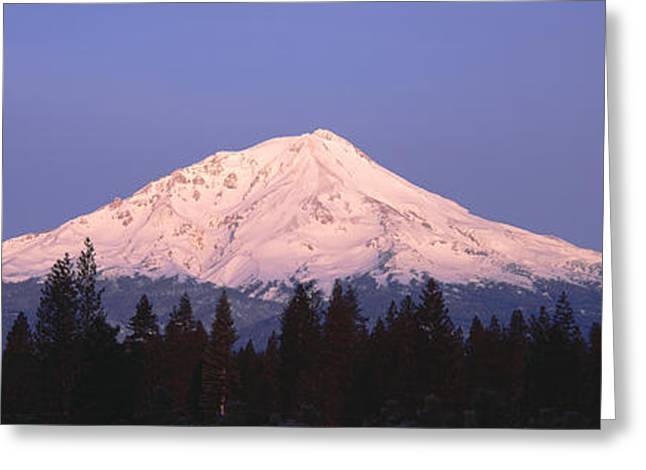 Sunrise At Mount Shasta, California Greeting Card by Panoramic Images