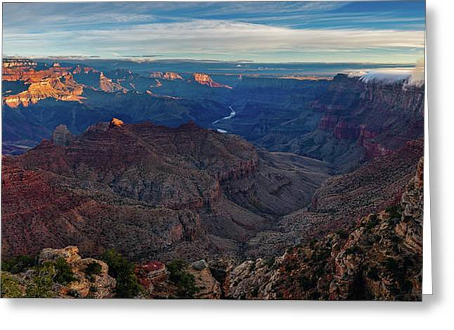 Greeting Card featuring the photograph Sunrise At Navajo Point by John Hight