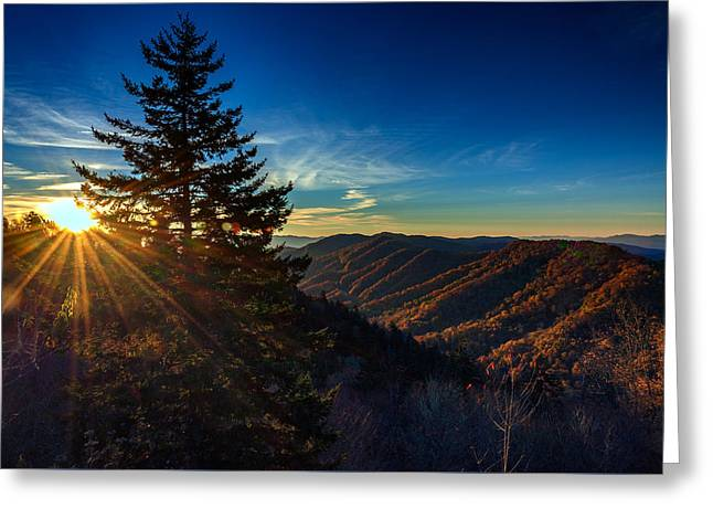 Sunrise At Newfound Gap Greeting Card by Rick Berk