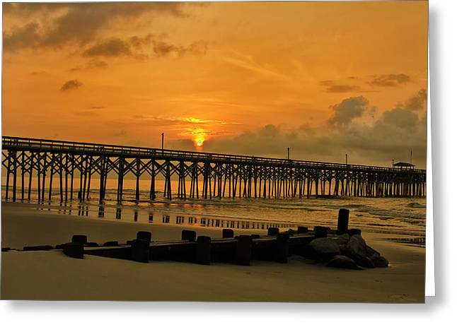 Sunrise At Pawleys Island Greeting Card by Bill Barber