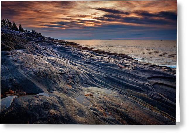 Sunrise At Pemaquid Point Greeting Card by Rick Berk