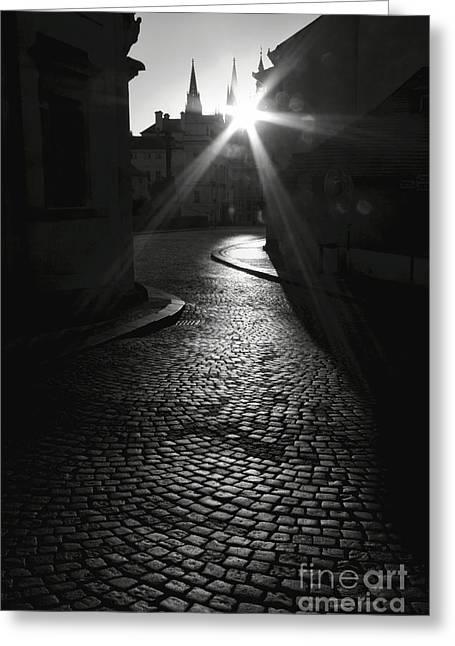 Sunrise At Prague Greeting Card by Hideaki Sakurai