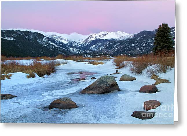 Sunrise At Rocky Mountain National Park Greeting Card