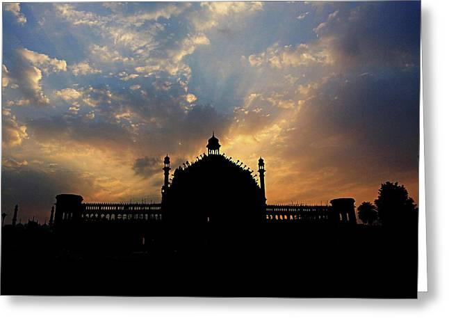 Sunrise At Rumi Gate Greeting Card