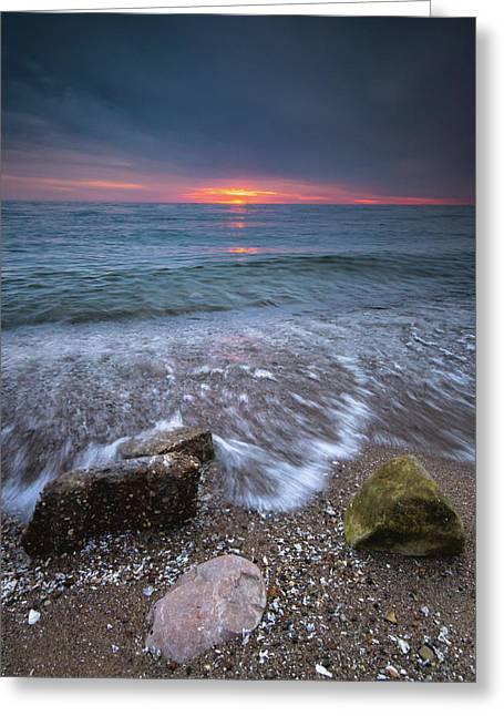 Sunrise At Sandpoint Beach Greeting Card
