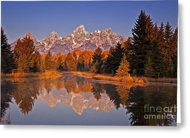 Sunrise At Schwabacher Landing  Greeting Card