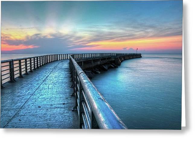 Sunrise At Sebastian Inlet Greeting Card