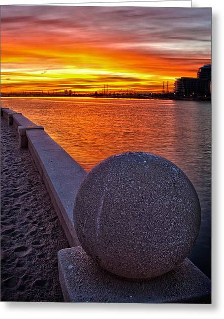 Sunrise At Tempe Town Lake Greeting Card by Dave Dilli