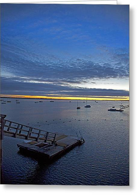 Sunrise At The Barnstable Yacht Club Greeting Card