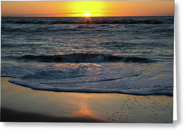 Sunrise At The Beach Greeting Card