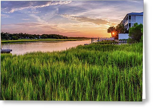 Sunrise At The Boat Ramp Greeting Card