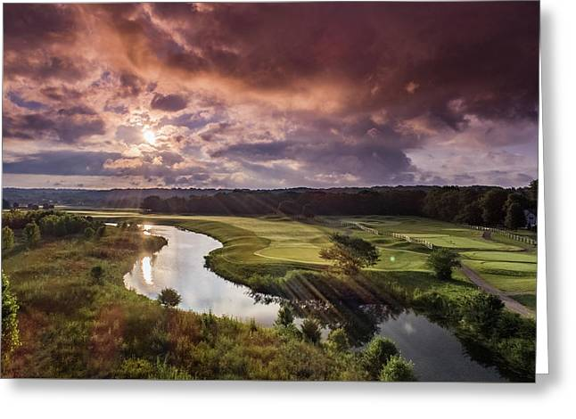 Sunrise At The Course Greeting Card