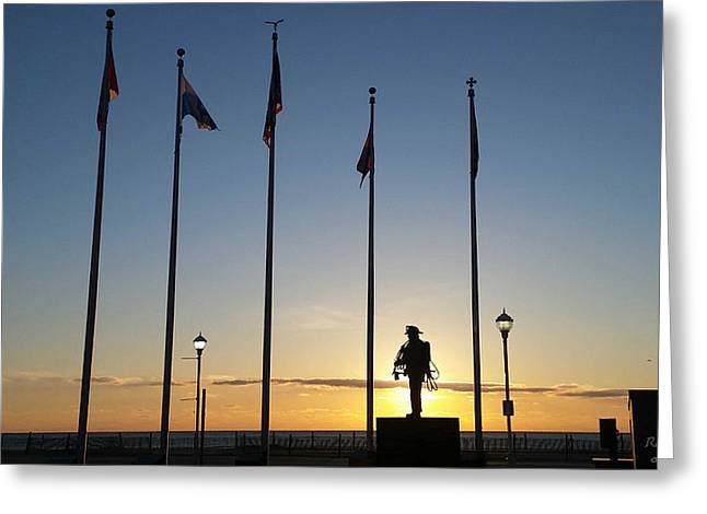 Sunrise At The Firefighters Memorial Greeting Card