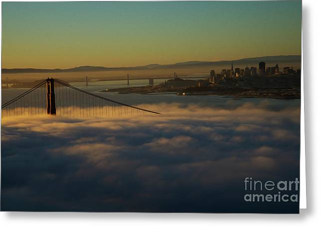 Greeting Card featuring the photograph Sunrise At The Golden Gate by David Bearden