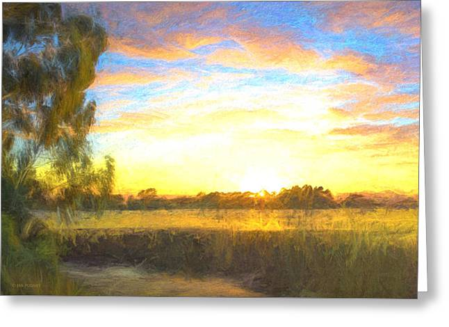 Sunrise At The Inlet 2 Greeting Card by Jan Pudney